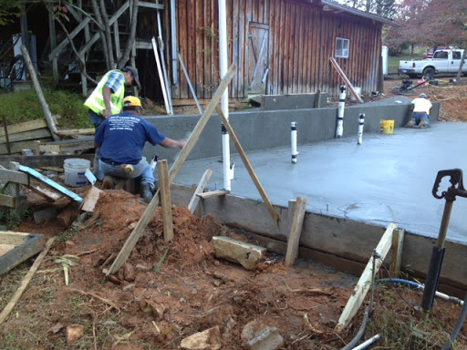 Concrete slab synergy building company custom for Monolithic pour foundation